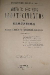 Memorias dos Desastrosos Acontecimentos de Albufeira
