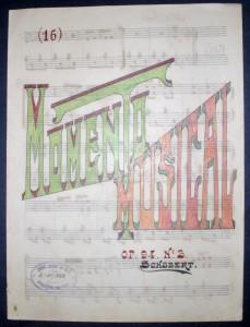 Momento Musical Op.94.N.ª3 de Schubert para Piano  «€10.00«