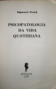 Psicopatologia da Vida Quotidiana  «€10.00»