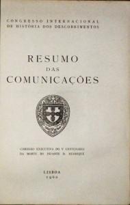Resumo das Comunicações«Congresso Internacional de História dos Descobrimentos» «€50.00»