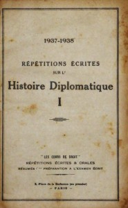 Répétitions Écrites Sur L´Histoire Diplomatique I e II