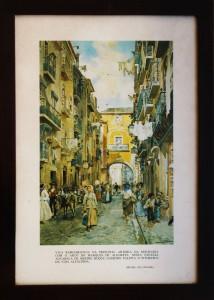 Lisboa - Mouraria com o Arco do Marques de Alegrete - Roque Gameiro «€15.00»