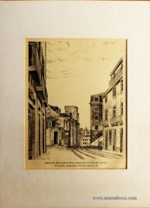 Aspecto da Rua Augusta Rosa, Antiga Rua do Arco do Limoreiro, em Lisboa, Mostrando a Fachada Noret da Sé «€25.00»