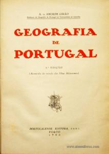 Geografia de Portugal (Acrecida do Estudo das Ilhas Adjacentes)