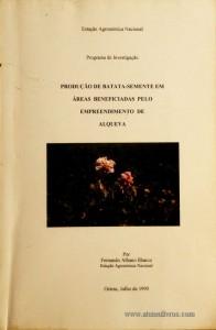Produção de Batata-semente em áreas Beneficiadas pelo Empreendimento de Alqueva