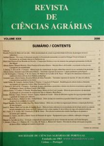 Revista de Ciências Agrárias - Volume XXIX - 2006 -Publicação da Sociedade de Ciências Agrárias de Portugal - Lisboa - 2006. Desc. 451 pág. / 24 cm x 17 cm / Br. - «€40.00»