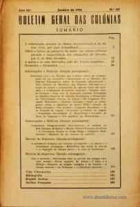 Boletim Geral das Colónias – Ano 12.ª – Janeiro de 1936 – N.º127 – Agencia Geral das Colónias – Lisboa – 1936. Desc. 204 pág. / 22,5 cm x 16 cm / Br «€12,50»