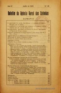 Boletim Geral das Colónias – Ano 5.ª – Junho de 1929 – N.º48 – Agencia Geral das Colónias – Lisboa – 1929. Desc. 225 pág. / 22,5 cm x 16 cm / Br «€12,50»