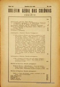 Boletim Geral das Colónias – Ano 16.ª – Janeiro de 1940 – N.º175 – Agencia Geral das Colónias – Lisboa – 1940. Desc. 205 pág. / 22,5 cm x 16 cm / Br «€12,50»
