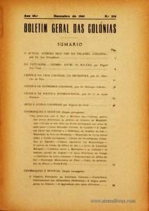 Boletim Geral das Colónias – Ano 23.ª – Dezembro de 1947 – N.º270 – Agencia Geral das Colónias – Lisboa – 1947. Desc. 130 pág. / 22,5 cm x 16 cm / Br «€12,50»