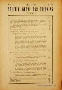 Boletim Geral das Colónias – Ano 16.ª – Maio de 1940 – N.º179 – Agencia Geral das Colónias – Lisboa – 1940. Desc. 152 pág. / 22,5 cm x 16 cm / Br «€12,50»