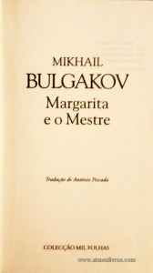 Margarida e o Mestre «€5.00»