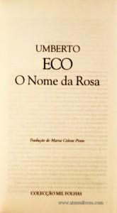 O Nome da Rosa «€5.00»