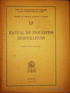 Manual de Inquérito Demográficos