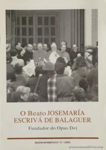 Boletim n.º 15 - Fundação do Opus Dei - 1997 - «€5.00»