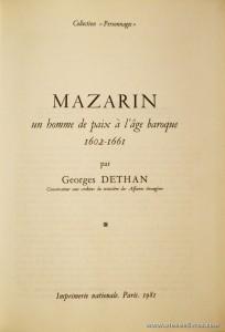 Mazarin un Homme de Paix à L'âge Baroque 1602-1661