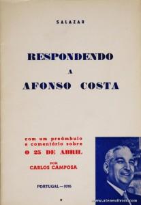 Salazar Respondendo a Afonso Costa
