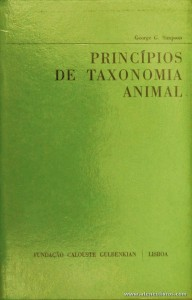 Princípios de Taxonomia Animal