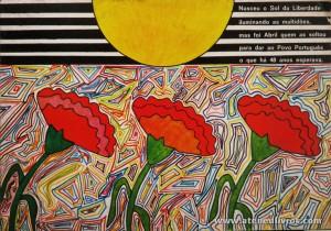 Nasceu o Sol da Liberdade Iluminando as Multidões, mas Foi Abril quem as Soltou Para dar ao Povo Português o que há 48 anos esperava - Comissão Organizadora das Comemorações do 25 de Abril, Dia da Liberdade 1979 - Capa de Maria Manuela de Sousa Domingues - Liceu Nacional de Leiria «€12.00»