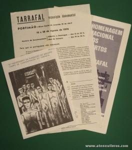 Tarrafal - Exposição Documental - Portimão - Bloco Social da Avenida 25 de Abril / Homenagem Nacional aos Mortos do Tarrafal. ObS: 3 Folhetos da Exposição «€7.00»