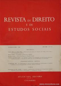 Revista de Direito e de Estudos Sociais - Janeiro/Junho de 1966 - Ano XIII - N.º 1 - 2 - Livraria Almedina - Coimbra «€10.00»