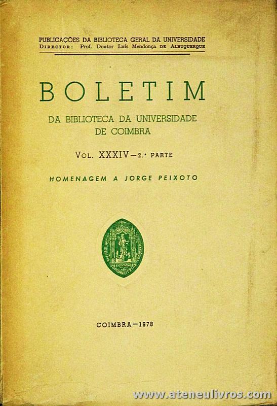 Boletim da Biblioteca da Universidade de Coimbra