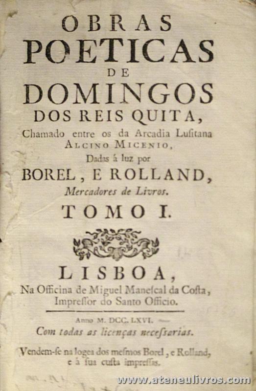 Obras Poéticas de Domingos dos Reois Quita