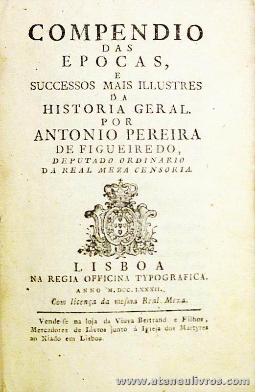 Compêndio das Épocas e Sucessos Mais Ilustres da História Geral