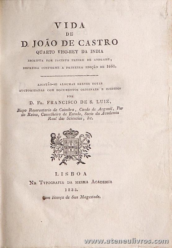 Vida de D. João de Castro Quato Viso-Rey da India
