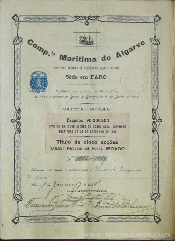 Companhia Marítima do Algarve «€20.00»
