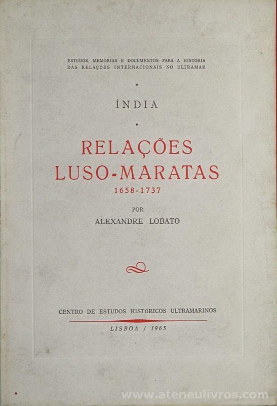 Índia * Relações Luso-Maratas (1658-1737)