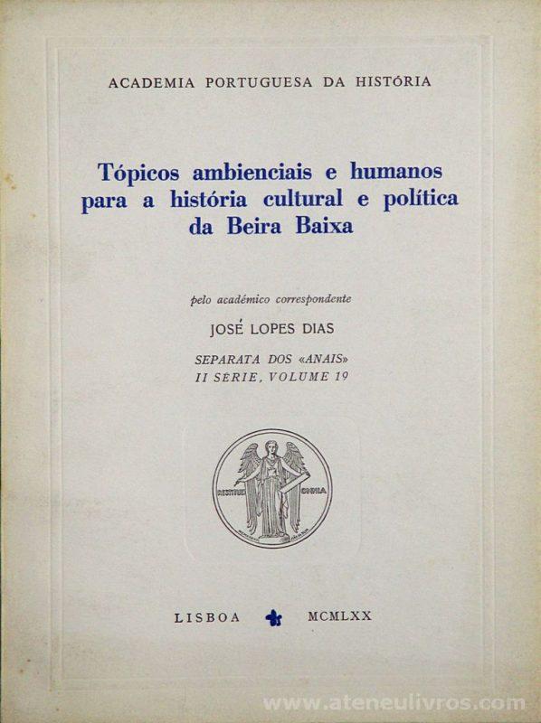Tópicos Ambientais e Humanos Para a História Cultural e Politica da Beira Baixa