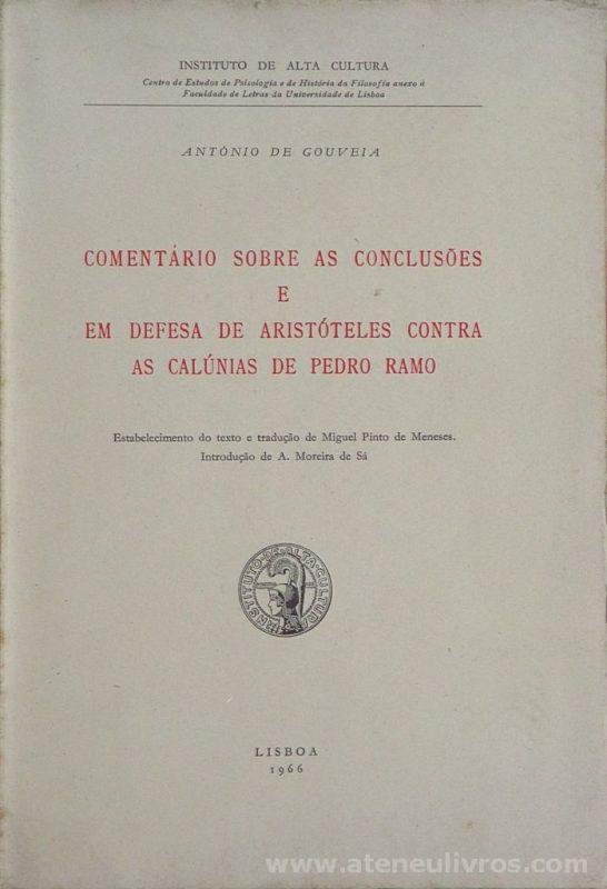 Comentário Sobre as Conclusões e em Defesa de Aristóteles as Calúnias de Pedro Ramo