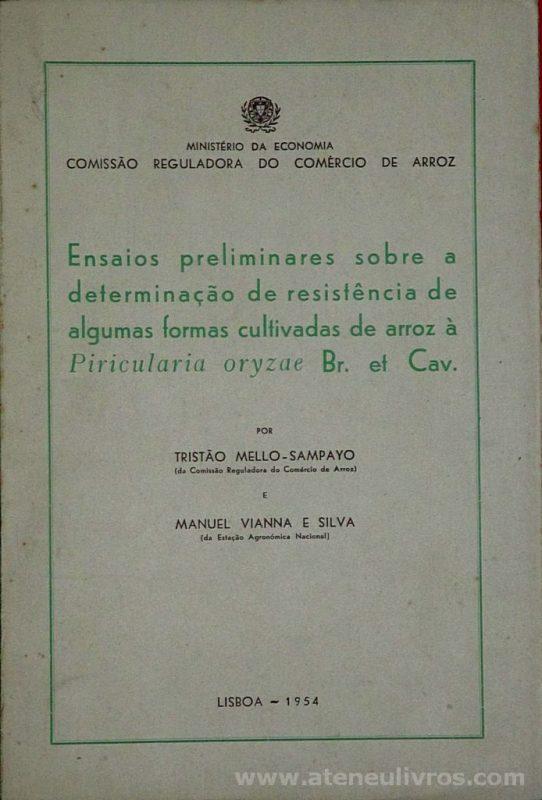 Ensaios Preliminares Sobre a Determinação de Resistência de Algumas Formas Cultivadas de Arroz a Piricultura Oryzae Br. et Cav.