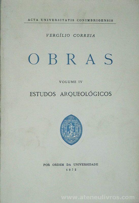 Obras (Vergílio Correia)