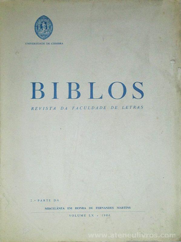 Biblos «Revista da Faculdade de Letras»