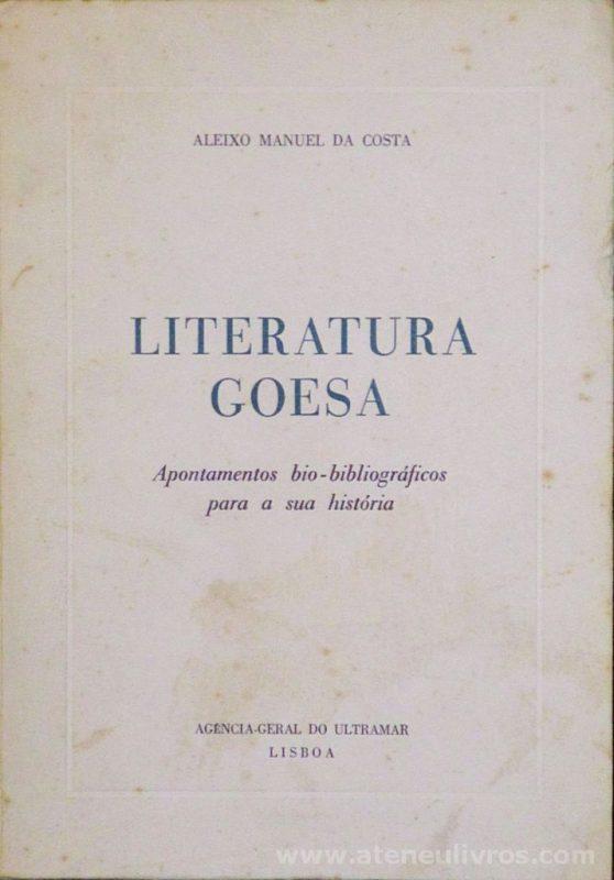 Literatura Goesa ( Apontamentos Bio-Biliográficos Para a sua História)