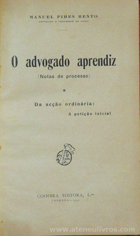 O Advogado Aprendiz ( Notas de Processo)