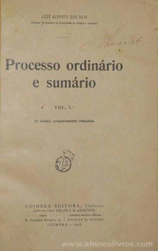 Processo Ordinário e Sumário