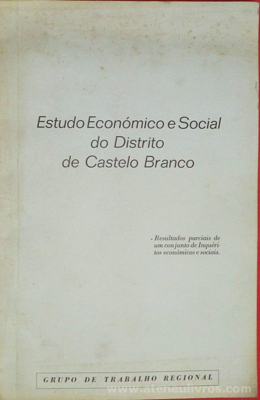 Estudo Econômico e Social do Distrito de Castelo Branco